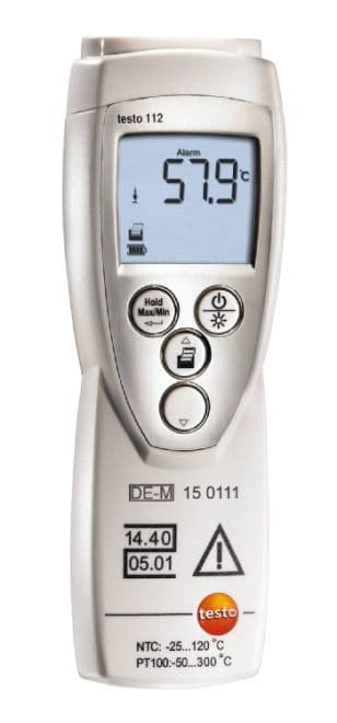 Testo 112 - Calibratable 1 channel thermometer