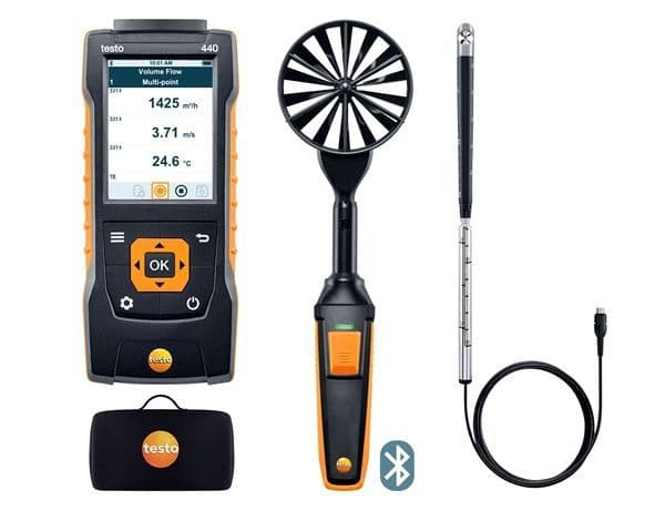 Testo 440 Bluetooth Air Flow Combo Kit 2