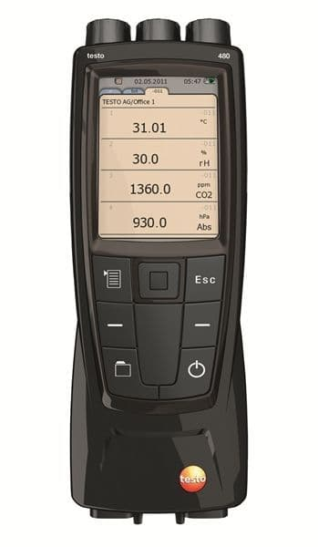 Testo 480 - High-end VAC measuring instrument
