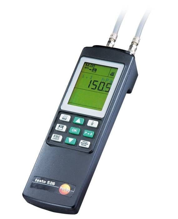 Testo 526-2 - High-Precision Differential Pressure Measuring Instrument