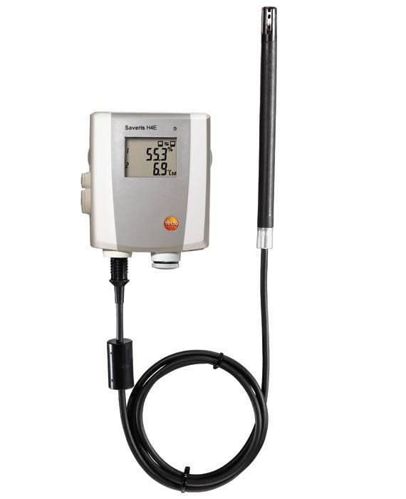 Testo Saveris H4 E - 2-channel temperature/humidity Ethernet probe, with display