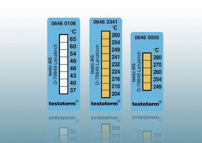 testoterm - Temperature strips (+161  +204 °C)