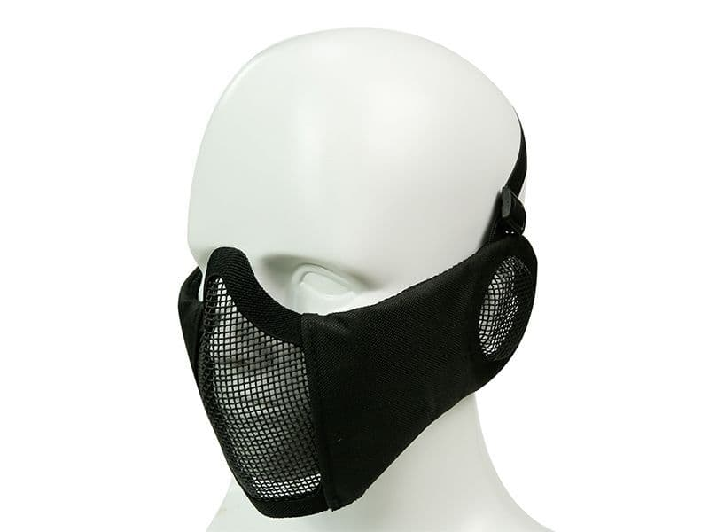 Big Foot Strike Steel Mesh Mask with Ear Protection (Black)