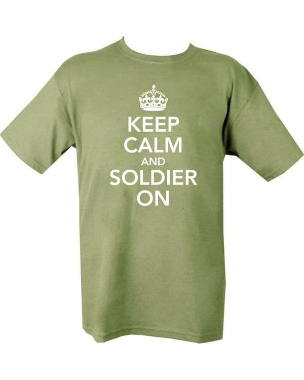 Keep Calm & Soldier On T-shirt - Olive Green