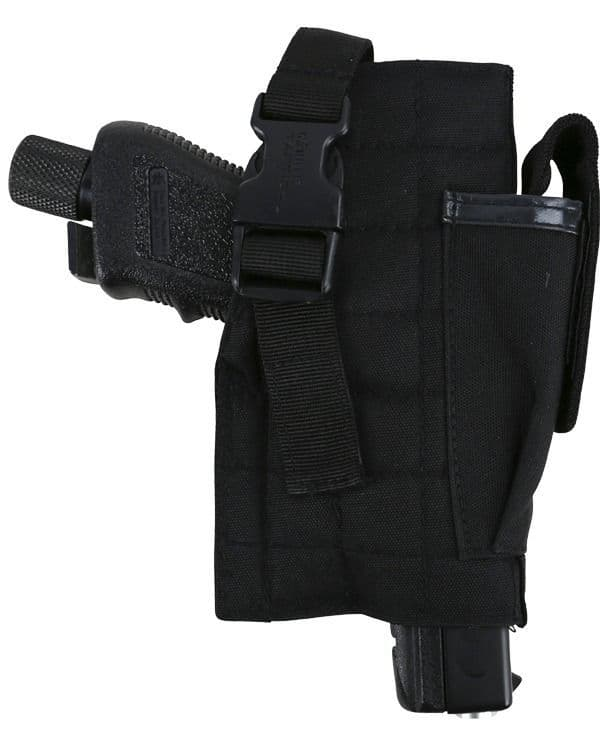 Molle Gun Holster with Mag Pouch - Black  OUT OF STOCK