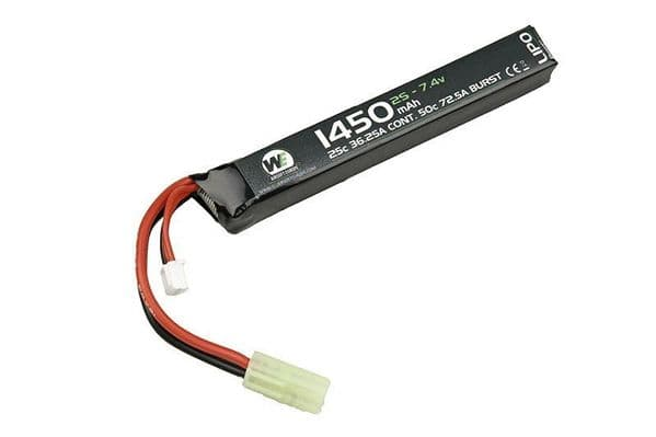 WE 1450mAH 7.4v Lipo 25c Stick Type   OUT OF STOCK