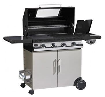 BeefEater Discovery 1100e Series 4 Burner Gas BBQ & Side Burner with Trolley