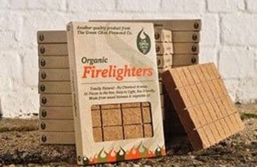 Organic Firelighter 32 piece Box x1