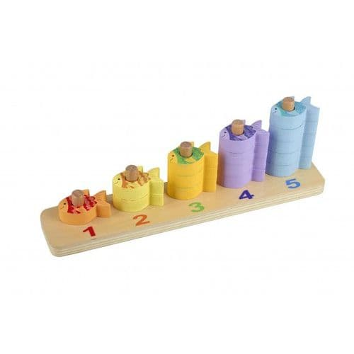 Orange Tree Toys Wooden Counting Fish Game