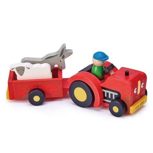 Tender Leaf Wooden Tractor and Trailer