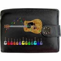 Acoustic Guitar Song Music Musical Klassek Real Leather Wallet With Options
