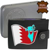 Bahrain BAHRAINI Flag Map Coat of Arms Klassek Real Leather Wallet With Options