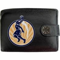 Basket Ball Player Circle Basketball Sport Accessory Klassek Real Leather Wallet With Options
