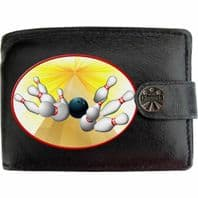 Bowling Ball Pins 10Pin Bowling Accessory Klassek Real Leather Wallet With Options