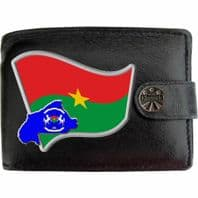 Burkina Faso BURKINABE Flag Map Coat of Arms Klassek Real Leather Wallet With Options