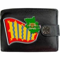 Cambridgeshire Flag Map Coat of Arms Klassek Real Leather Wallet With Options