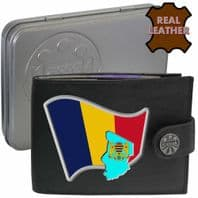 Chad CHADIAN Flag Map Coat of Arms Klassek Real Leather Wallet With Options