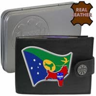 Christmas Island  Flag Map Coat of Arms Klassek Real Leather Wallet With Options