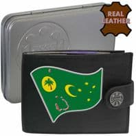 Cocos Islands  Flag Map Coat of Arms Klassek Real Leather Wallet With Options