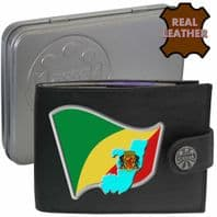 Congo Republic CONGOLESE Flag Map Coat of Arms Klassek Real Leather Wallet With Options