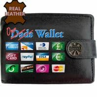 Dads Our Funny Humourus Joke Klassek Real Leather Wallet With Options