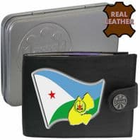 Djibouti DJIBOUTI Flag Map Coat of Arms Klassek Real Leather Wallet With Options