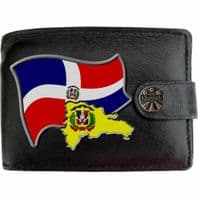 Dominican Republic DOMINICANS Flag Map Coat of Arms Klassek Real Leather Wallet With Options