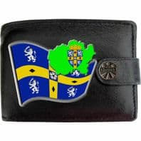 Durham Flag Map Coat of Arms Klassek Real Leather Wallet With Options
