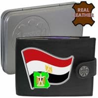 Egypt EGYPTIAN Flag Map Coat of Arms Klassek Real Leather Wallet With Options