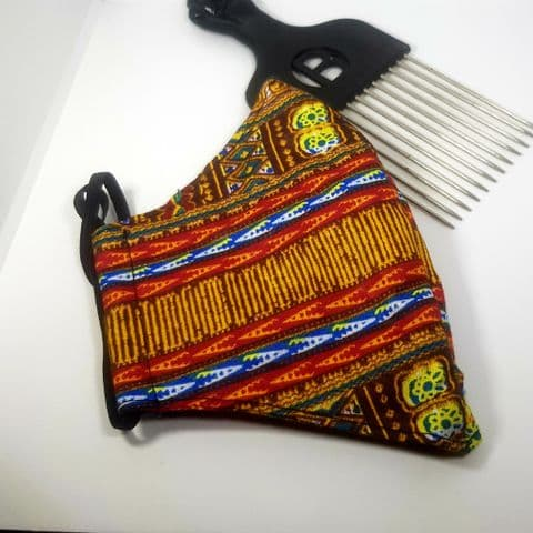 African Fabric Cotton Reversible Face Covering (12)