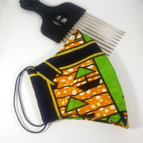 African Fabric Cotton Reversible Face Covering (13)