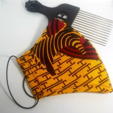 African Fabric Cotton Reversible Face Covering (27)