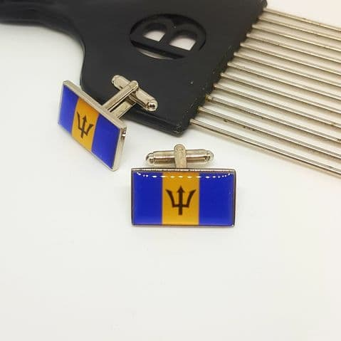 Barbados Flag- Cufflinks