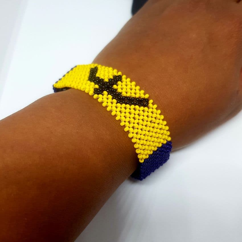 Beaded Barbados Flag Unisex Bracelet