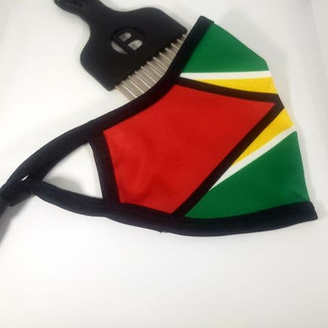 Face Covering Guyana Black Trim