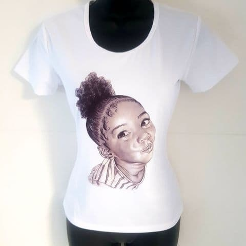 Little Girl with Afro Puff T-Shirt