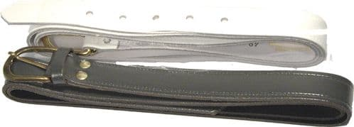 Leather Belt  Grey Or White (Order Only)