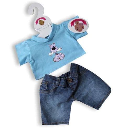 Blue Dog Denim Outfit