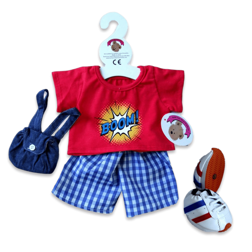 Boom Shorts Outfit Shoes +Bag