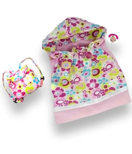 Teddy bear clothes | Flower Sleeping Bag with Backpack