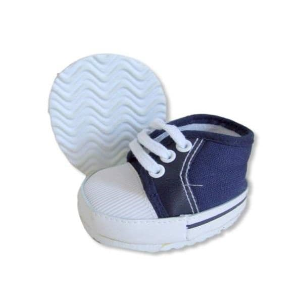 Teddy bear shoes navy blue canvas laced shoes fitting build a bear teddies of 38-40 cm,also