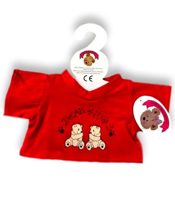 Red  Bear Hugs T-shirt Top