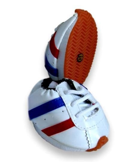 Teddy bear trainers, Red White & Blue Trainers good fit build-a-bear teddies.