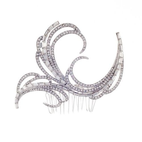 Adele Vintage Art Deco Crystal wedding hair comb