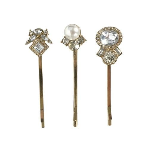 Belle trio vintage inspired bridal hair clips
