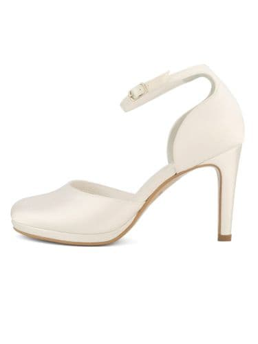 Candis satin bridal shoe, 3.5 heel