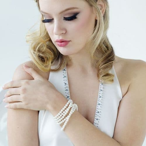 Luxury Pearl Bridal Bracelet, Wedding Bracelet