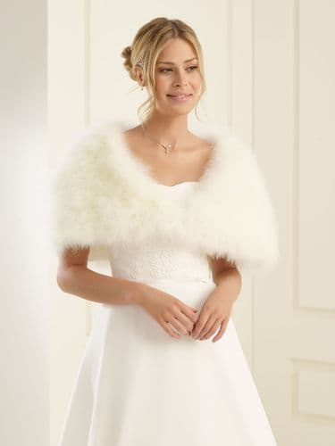 marabou feather bridal cape, feather wedding shrug
