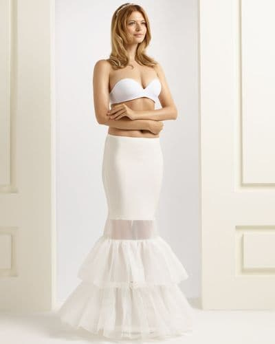 One hoop bridal petticoat with two ruffles