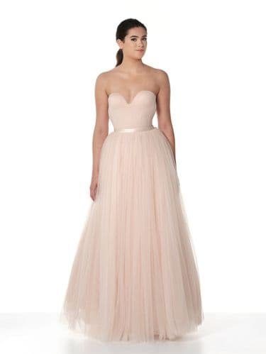 Tulle bridal skirt in ivory or blush